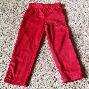 Red Nike trackpant, size 3T